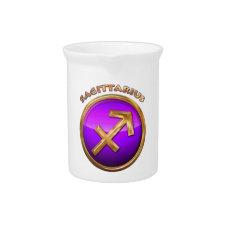Sagittarius Astrological Sign Beverage Pitcher