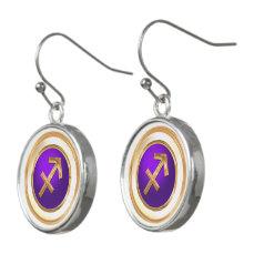 Sagittarius Astrological Sign Earrings