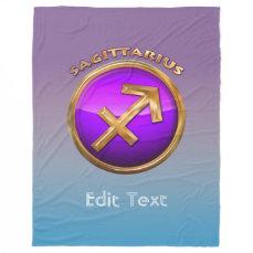 Sagittarius Astrological Sign Fleece Blanket