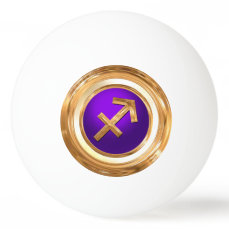 Sagittarius Astrological Sign Ping Pong Ball