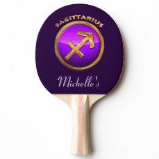 Sagittarius Astrological Sign Ping Pong Paddle