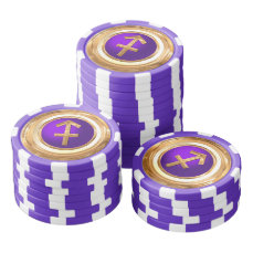 Sagittarius Astrological Sign Poker Chip Set