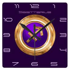 Sagittarius Astrological Sign Square Wall Clock
