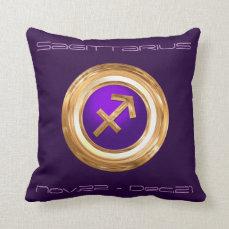 Sagittarius Astrological Sign Throw Pillow