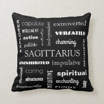 Sagittarius Astrological Throw Pillow