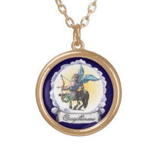 Sagittarius Astrology Zodiac Gold Pendant Necklace