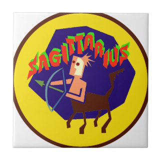 Sagittarius Badge Ceramic Tile