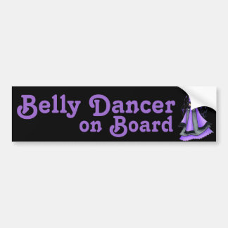 Sagittarius Belly Dancer Purple Bumper Sticker