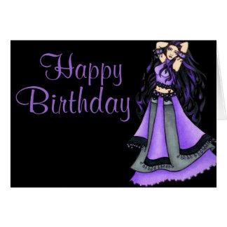 Sagittarius Belly Dancer Purple Card