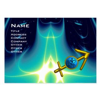 SAGITTARIUS - Blue Turquase Large Business Card