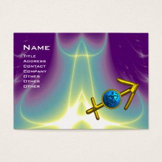 SAGITTARIUS - blue violet purple Business Card