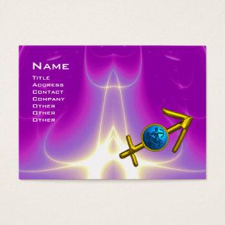 SAGITTARIUS - blue violet purple pink Business Card