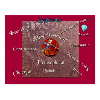 Sagittarius characteristics zodiac card