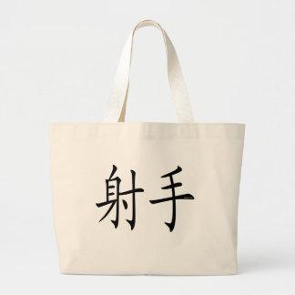 Sagittarius Chinese Symbol Canvas Bags