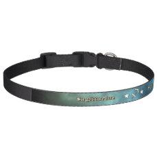 Sagittarius chrome symbol pet collar