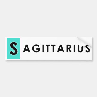 SAGITTARIUS COLOR BUMPER STICKER