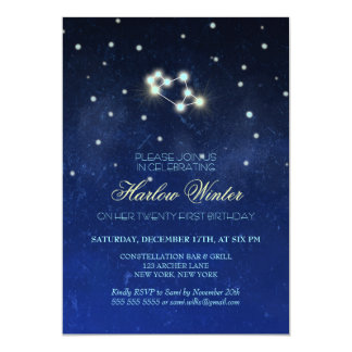 Sagittarius Constellation Birthday Party Card