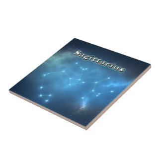 Sagittarius constellation ceramic tile