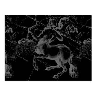 Sagittarius Constellation Classy Hevelius Engaving Postcard