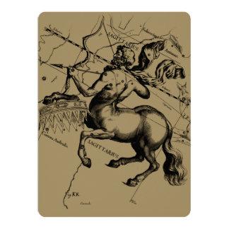 Sagittarius Constellation Hevelius 1690 Engraving Card