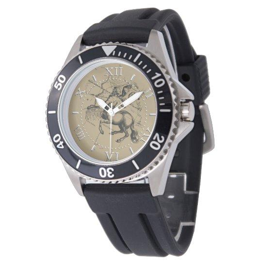 Sagittarius Constellation Map Hevelius Dial Wristwatch