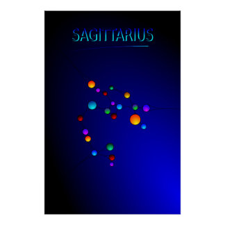 Sagittarius Constellation Poster