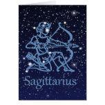 Sagittarius Constellation & Zodiac Sign with Stars Card