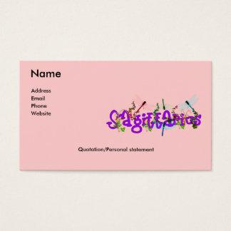 Sagittarius Flowers Business Card