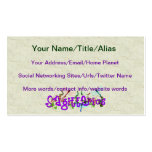 Sagittarius Flowers Double-Sided Standard Business Cards (Pack Of 100)