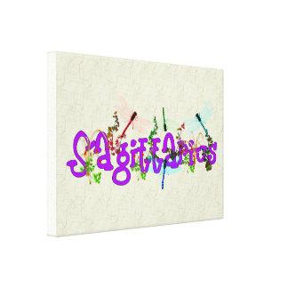 Sagittarius Flowers Gallery Wrapped Canvas