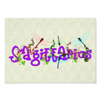 Sagittarius Flowers Card