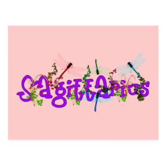Sagittarius Flowers Postcard