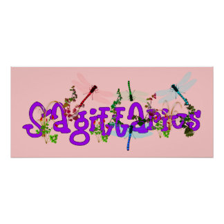 Sagittarius Flowers Posters