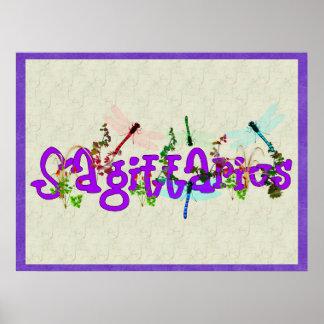 Sagittarius Flowers Poster