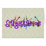 Sagittarius Flowers Stationery Note Card