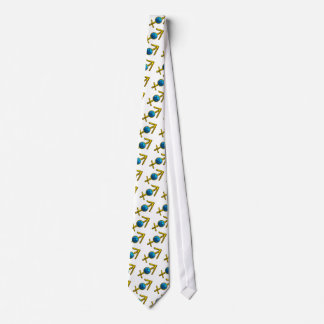 SAGITTARIUS GOD BLUE ZODIAC BIRTHDAY JEWEL NECK TIE