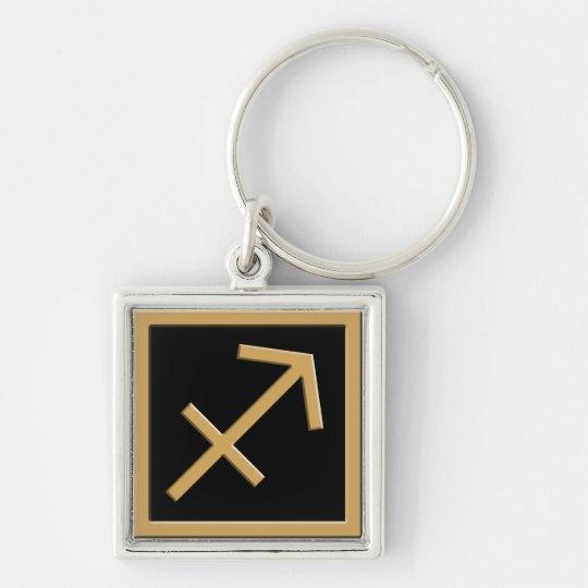 Sagittarius Gold Symbol Design Premium Keychain