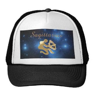 Sagittarius golden sign trucker hat
