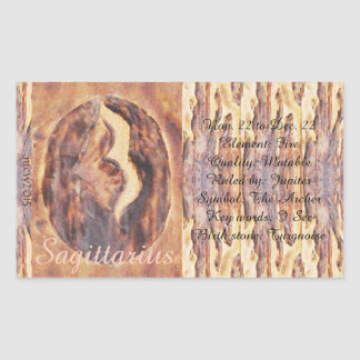 Sagittarius Greek Zodiac Primitive Astrology Rectangle Stickers