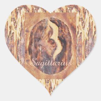 Sagittarius Greek Zodiac Primitive Astrology Heart Sticker