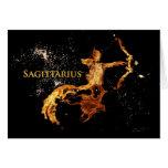 Sagittarius Greeting Card - Zodiac Symbols