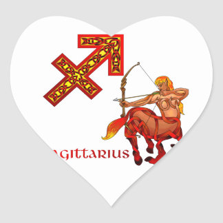 Sagittarius Heart Sticker