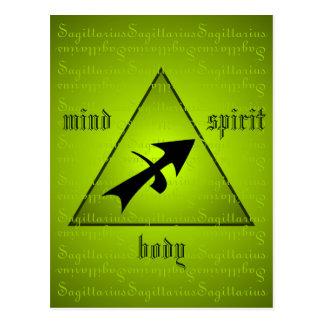 Sagittarius Holistic Triangle Mind Body Spirit Postcard