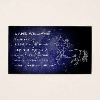 Sagittarius Horoscope Business Card