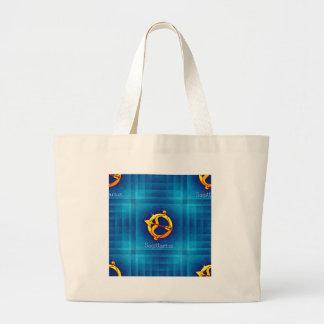 sagittarius horoscope large tote bag