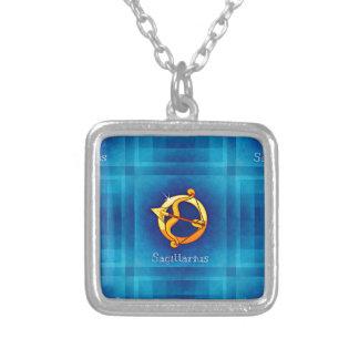 sagittarius horoscope square pendant necklace