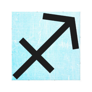 Sagittarius Horoscope Zodiac Astrology Sign Art Canvas Print