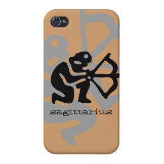 Sagittarius in black case for iPhone 4
