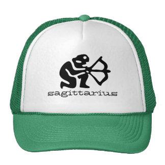 Sagittarius in black trucker hat