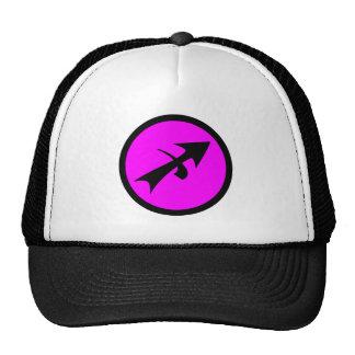 Sagittarius Magenta Black Circle Crest Trucker Hat